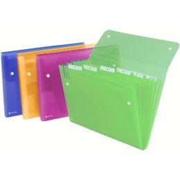 Rexel Fächermappe ICE, DIN A4, 6 Fächer, PP, glasklar