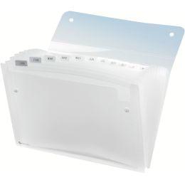 Rexel Fächermappe ICE, DIN A4, 13 Fächer, PP, glasklar