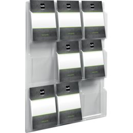 helit Wanddisplay the clearly, 6 x DIN A4 hoch, glasklar