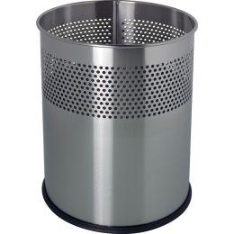 helit Stahl-Papierkorb the dot, 15 Liter, alu-grau