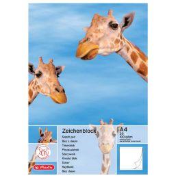 herlitz Zeichenblock DIN A4, 100 g/qm, 25 Blatt