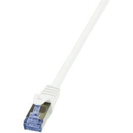LogiLink Patchkabel PrimeLine, Kat. 6A, S/FTP, 0,25 m, weiß