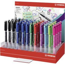STABILO Fineliner SENSOR M, 48er Display - 8 Farben
