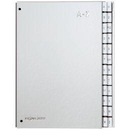 PAGNA Pultordner Color, DIN A4, A - Z, 24 Fächer, silber