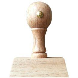 Schmorrde Holzstempel 4-zeilig, mit Kugelgriff