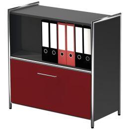 kerkmann Sideboard ARTLINE, 2 Ordnerhöhen, 1 rote Schublade