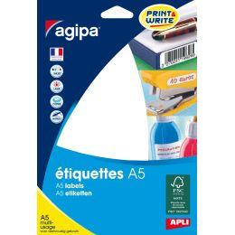 agipa Universal-Etiketten, 48,5 x 30 mm, weiß