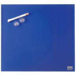 nobo Glas-Magnettafel, (B)450 x (H)450 mm, blau
