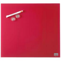 nobo Glas-Magnettafel, (B)450 x (H)450 mm, rot