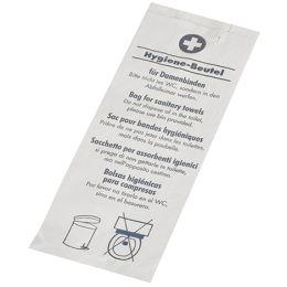 PAPSTAR Papier-Hygienebeutel, bedruckt, weiß