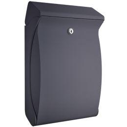 BURG-WÄCHTER Kunststoff-Briefkasten Swing 4906, silber