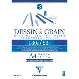 Clairefontaine Zeichenpapierblock à Grain, DIN A4