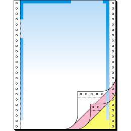 sigel Computer-Briefbogen endlos, Farbverlauf blau, 3-fach