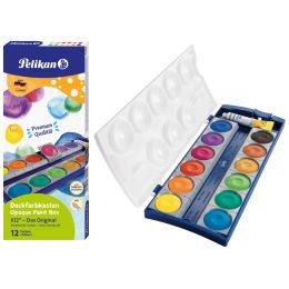 Pelikan Deckfarbkasten Schul-Standard K12, 12 Farben