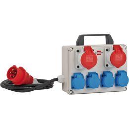 brennenstuhl Stromverteiler BKV 2/4 T IP 44, 4-fach, 2 x CEE