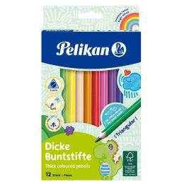 Pelikan Dreikant-Buntstifte dick, 12er Kartonetui