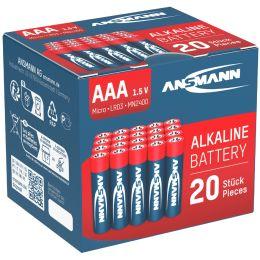 ANSMANN Alkaline Batterie RED,Micro AAA, 20er Blister
