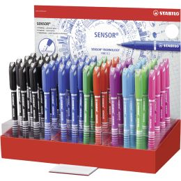 STABILO Fineliner sensor, 48er Display - 8 Farben