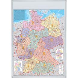 FRANKEN Deutschland Postleitzahlen-Karte, magnethaftend