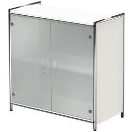 kerkmann Sideboard ARTLINE, 2 Ordnerhöhen, 2 Glastüren, weiß
