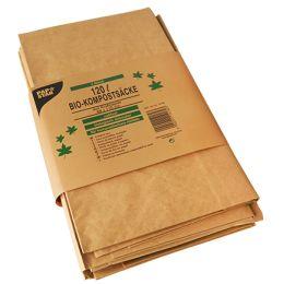 PAPSTAR Kompostsäcke, braun, 120 Liter, 3er