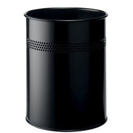 DURABLE Papierkorb METALL, rund, 15 Liter, schwarz