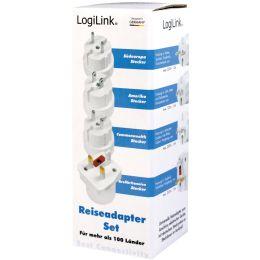 LogiLink Reise-Adapter-Set (EU/UK/US), weiß