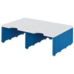 styro Aufbaueinheit styrodoc duo, 2 Fächer, blau/grau