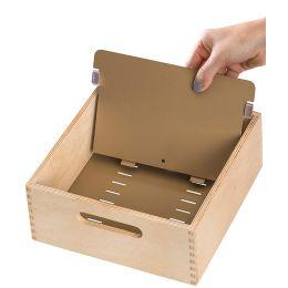 HAN Holz-Karteitrog für 900 Karten, A7 quer
