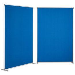 magnetoplan Raumteiler Textil, blau, mit Aluminiumrahmen