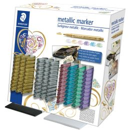 STAEDTLER Permanent-Marker Metallic, 100er Display