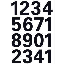 """HERMA Zahlen-Sticker 0-9, Folie schwarz, H""""he: 25 mm"""