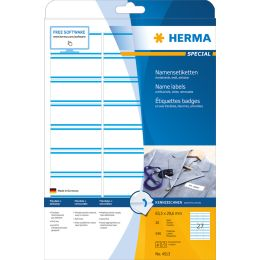 HERMA Namens-Etiketten SPECIAL, 63,5x29,6 mm, Streifen blau
