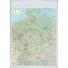 FRANKEN Deutschland Straßenkarte, magnethaftend