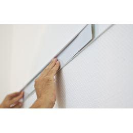 FRANKEN Wandschienen-Set PRO, 2.000 x 60 mm, silber