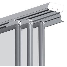 FRANKEN 3-fach Konferenzschiene PRO, Aluminium, 2.000 mm