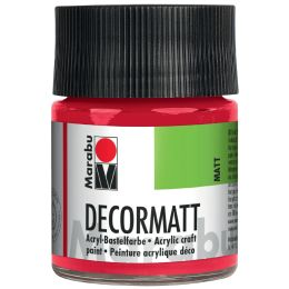 Marabu Acrylfarbe Decormatt, orange, 50 ml, im Glas