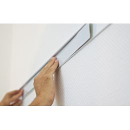 FRANKEN Wandschienen-Set PRO, 4.000 x 60 mm, silber