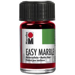 Marabu Marmorierfarbe Easy Marble, kirschrot, 15 ml, Glas