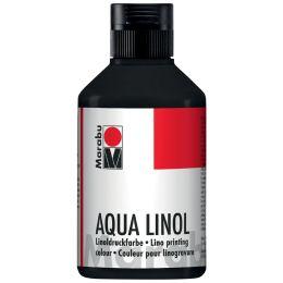 Marabu Aqua-Linoldruckfarbe, schwarz, 250 ml