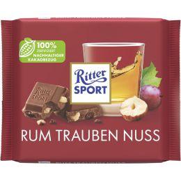 Ritter SPORT Tafelschokolade RUM TRAUBEN NUSS, 100 g