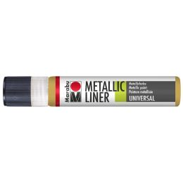 Marabu Metallicfarbe Metallic-Liner, metallic-weiß, 25 ml