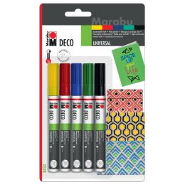 Marabu Acrylmarker Deco Painter matt, 5er Blister