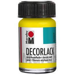 Marabu Acryllack Decorlack, gelb, 15 ml, im Glas