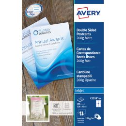 AVERY Quick & Clean Korrespondenz-Karten, 128 x 82 mm