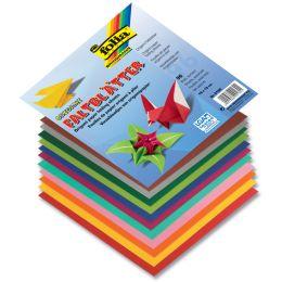 folia Origami-Faltblätter, 130 x 130 mm, farbig sortiert