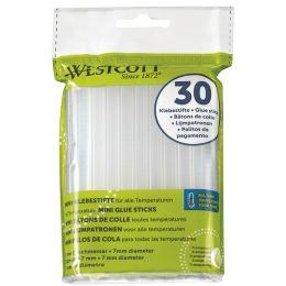 WESTCOTT Heißklebepatronen, Durchmesser: 7 mm, 30 Stück