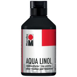 Marabu Aqua-Linoldruckfarbe, mittelgelb, 250 ml