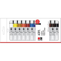Marabu Acrylfarbe, 12 ml, 12er-Set