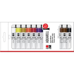 Marabu Aquarellfarbe, 12 ml, 12er-Set